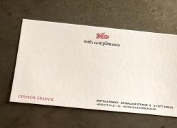 Compliment Card Contor FRanck