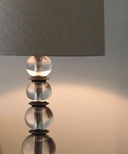 Lampenschirm mit kleinem Leuchtkranz