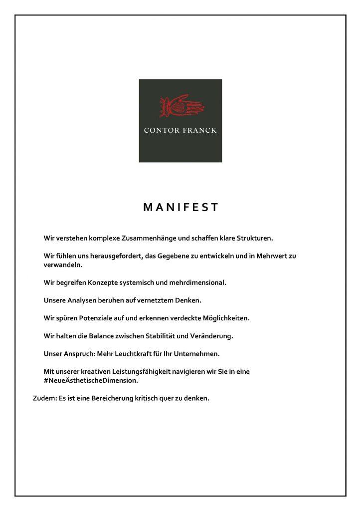 Manifest Contor Franck